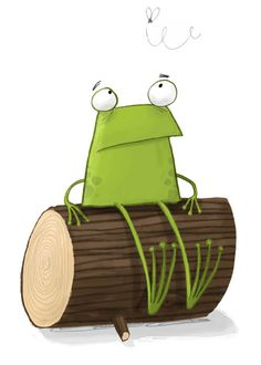 Just a frog sittin' on a log...