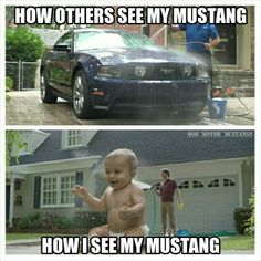 my mustang... my baby...