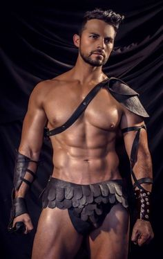 Hot men naked halloween with