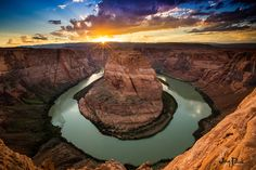 Horseshoe Bend: Overlook the Colorado river at Hourseshow Bend. Enjoy a view of 4,200 feet (1,300 m) above sea level!  Horseshoe Bend is  4 1/2 hours drive from Chandler.   #Vacation #Arizona #Chandler #HorseshoeBend