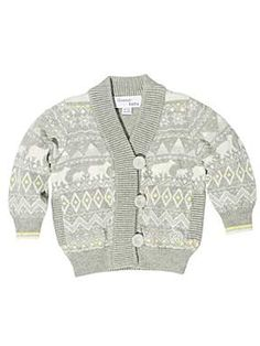 Christmas Jumper - Bonnie Baby Kid`s knitted cardigan