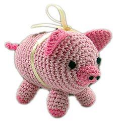 Knit Knacks - Piggy Boo Organic Cotton Dog Toy
