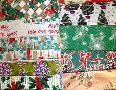 50 - 60's CHRISTMAS Wrapping Paper NEW/OLD 55 Sheets Vtg Gift Wrap Lot (12/15/2012)