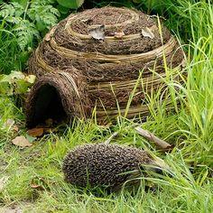 Igloo Hedgehog House Natural Garden Shelter Home Safe Retreat Conservation Hedgehog Habitat, Jardim Natural, Bug Hotel, Woodland Garden, Natural Garden, Animal House, Dream Garden, Garden Projects, Garden Bridge