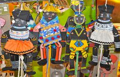 African Body Adornment ALSO Ndebele dolls could be a cool idea. These are puppets from Africa