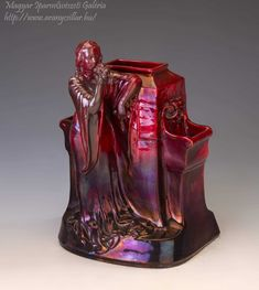 Iridescent, Affair, Vase, Ceramics, Woman, Color, Home Decor, Hall Pottery, Colour