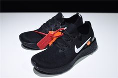 Mens and WMNS Off-White x Nike Epic React Flyknit Running Shoes Black AQ0070-010 Tags: Nike Epic React, Nike Shoes, Off-White Shoes, Nike Epic React Flyknit, Off-White, Womens Off-White Model: OFFWHITE-AQ0070-010 5 Units in Stock Manufactured by: OFF-WHITE White Shoes Men, Off White Shoes, Nike Shoes, Sneakers Nike, Black Running Shoes, Nike Free, Tags, Model, Fashion