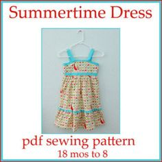 Summertime Dress PDF sewing pattern   YouCanMakeThis.com
