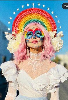 Halloween Inspo, Halloween Kostüm, Halloween Makeup, Halloween Costumes, Cabelo Pin Up, Fantasy Make Up, Sugar Skull Makeup, Make Up Art, Maquillage Halloween