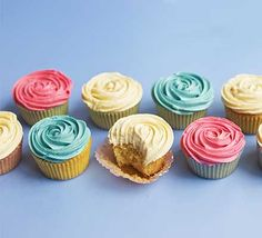 Make delicious cupcakes with this easy recipe, perfect for everyday baking and occasions. Find more cake and baking recipes at BBC Good Food. Easy Vanilla Cupcakes, Yummy Cupcakes, Mocha Cupcakes, Gourmet Cupcakes, Velvet Cupcakes, Gluten Free Chocolate, Chocolate Recipes, Chocolate Cake, Cupcake Recipes
