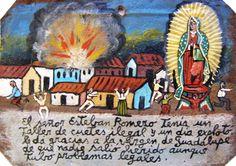 У сеньора Эстебана Ромеро была мастерская, где он незаконно делал петарды. И однажды они взорвались. Он благодарит Пресвятую Деву Гваделупскую, что от взрыва никто не пострадал, хотя у самого Эстебана теперь проблемы с законом.