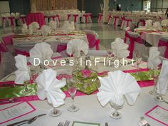 pink and green wedding decoration | Green & Hot Pink, Father Weber Hall, Saint Gerard's, Lansing