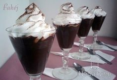Csokis pohárkrém Hungarian Cake, Hungarian Recipes, Chia, Sweet Desserts, Lunches And Dinners, No Bake Cake, Cake Cookies, Mousse, Cookie Recipes