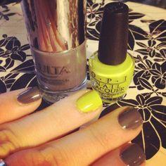 Pop of neon for spring #nails #nailpolish