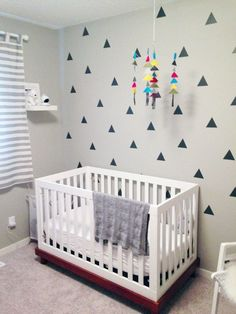 triangle wall decals and DIY mobile