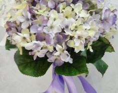 Items similar to Wedding Bridal Bouquet-LAVENDER HYDRANGEA with ...