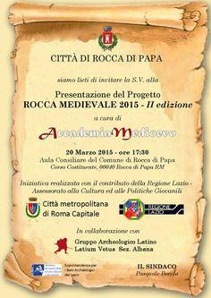 """MedioEvo Weblog: Presentazione progetto """"Rocca medievale 2015 - II Edizione"""""""