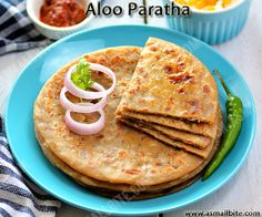 This Aloo Paratha Recipe / Punjabi Aloo Paratha is a very famous recipe from the punjabi cuisine with step by step pictures and a short video.