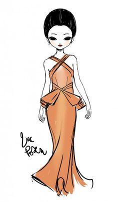 Candybird Illustration for Zac Posen @ New York Womenswear A/W 2013 - SHOWstudio