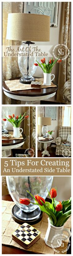THE ART OF THE UNDERSTATED TABLE TOP  A very important element in beautiful decorating and not as easy as you may think