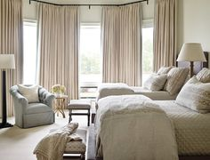 Bedroom. Bedroom with two double beds. Hotel style bedroom. This bedroom design is perfect for guest bedrooms. Interior Design by Beth Webb Interiors.