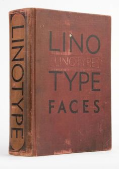 I love books. I love Linotype faces, specifically Palatino and Optima and Zapfino. This is just good, good stuff.