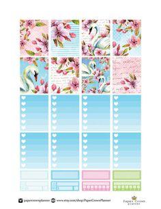 SWAN LAKE Weekly Kit/Printable Planner Stickers/Planner