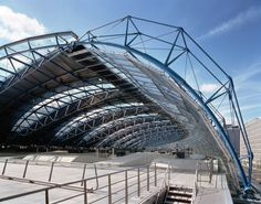 Parametric - Figure 2 - Waterloo International Terminal - Photo by Jo Reid & John Peck London Architecture, Architecture Details, Industrial Architecture, Urban Architecture, Roof Structure, Steel Structure, Waterloo Station, Tensile Structures, Airport Design