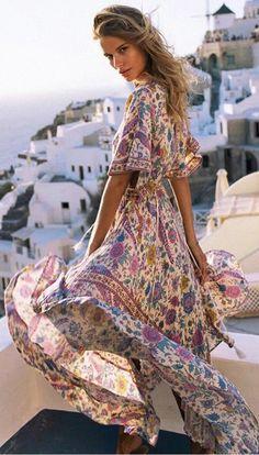 Bohemian Floral Print Bohemian Dress. Women fashion. Bohemian summer dresses. Boho dresses. Beach fashion & Bohem style. Boho fashion. Bohemian style. Gypsy style. #boho #bohemian #gypsy #bohoclothing #bohemianclothing #affiliate #vintage #bohochic #bohostyle #hippiestyle #hippie #beachfashion #bohemiandress #bohodress #summerdress #dress