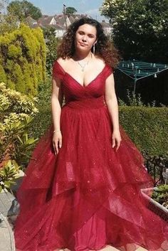 Off Shoulder V neck Burgundy Tulle Prom Dress, Formal Evening Gowns T1691 by sweetdressy, $166.50 USD Tulle Prom Dress, Homecoming Dresses, Hoco Dresses, Graduation Dresses, Full Gown, Evening Dresses, Formal Dresses, Shoulder, Burgundy