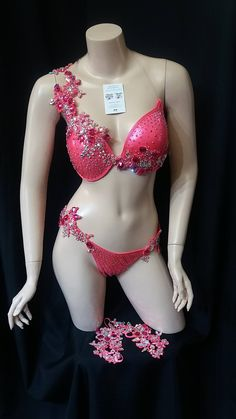 Coral Wbff Bikini by Magic Tan, Wbff Bikini, Competition Bikinis, Coral Orange, Dressing, Gowns, Swimwear, Shopping, Fashion