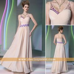 $101.00  long evening dress V-neck party dress
