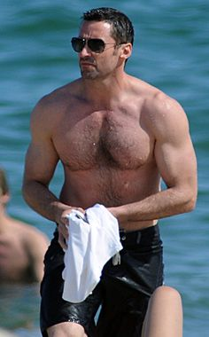 Hugh Jackman: Me thinks, Mr. Jackman should be required to always be topless and wet.