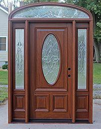 "Mahogany Doors with elliptical Transoms 6'8"""