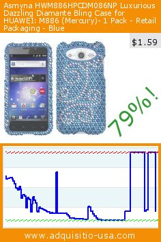 Asmyna HWM886HPCDM086NP Luxurious Dazzling Diamante Bling Case for HUAWEI: M886 (Mercury)- 1 Pack - Retail Packaging - Blue (Wireless Phone Accessory). Drop 79%! Current price $1.59, the previous price was $7.50. https://www.adquisitio-usa.com/asmyna/hwm886hpcdm086np