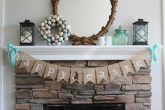 Burlap Easter banner/Happy Easter garland/ by BurlapandTwineCo