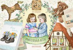 15%OFF Mysterious Attic Watercolors by Eva-Katerina on @creativemarket
