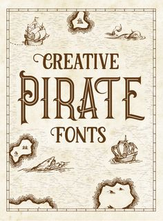 15 Legendary Pirate Fonts for Your Vintage Design Projects Vintage Graphic Design, Vintage Designs, Pirate Font, Pirate Kids, Pirate Party, Pirate Illustration, Typography Design, Design Projects, Hand Lettering