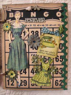 """Green"" Vintage Dime Store Bingo Card"