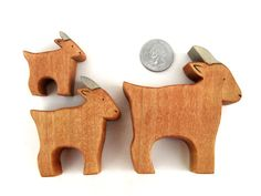 Three Billy Goats Gruff - Wooden Toys - Fairy Tale - Kids Toys