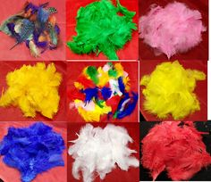 Dyed and Treated Feathers. Approx 45 Feathers per 5grms. | eBay!