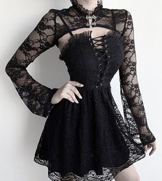 Great selection of Gothic Tops at affordable prices! Alternative Mode, Alternative Fashion, Alternative Dresses, Punk Mode, Gothic Punk Fashion, Dark Fashion, Gothic Mode, Gothic Shirts, High Fashion Outfits