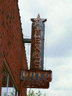 Texas Auto Supply old neon, Longview, Texas
