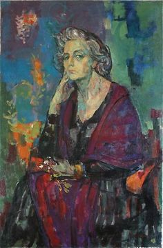Mujer con flores : Juan Carlos Castagnino Argentino