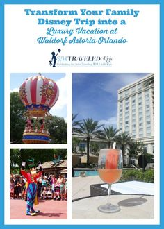 How you turn your kid friendly family Disney trip into a luxury family vacation at The Waldorf Astoria Orlando in Walt Disney World. Disney Destinations, Family Vacation Destinations, Disney World Vacation, Disney World Resorts, Disney Vacations, Disney Trips, Family Vacations, Family Travel, Walt Disney