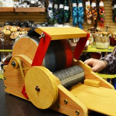 Strauch Fiber Equipment Drum Carder - Demonstrated at The Woolery