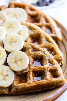 EASY Blender Banana Rice Gluten Free Waffles {Freezer Friendly, Vegan Option} | Cotter Crunch | Bloglovin'