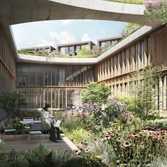 Herzog & de Meuron has won a competition to design a hospital in a Danish forest with plans for a building shaped like a four-leaf clover.