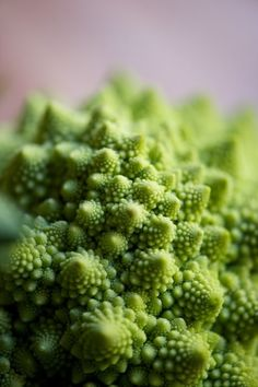 Romanesco (an Italian cousin of cauliflower). Gorgeous! via the kichy kitchen