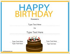 Special certificate happy birthday certificate special certificate happy birthday certificate certificatestreet my future in a nutshell pinterest certificate happy birthday and yadclub